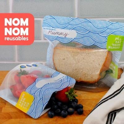 💥BLACK FRIDAY -20% DESCONTO Saquetas Reutilizáveis Versão Neutra para Sandes ou Snacks