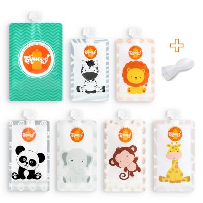 Pack 7 Mini Familia Squeez! + 1 Colheres Grátis