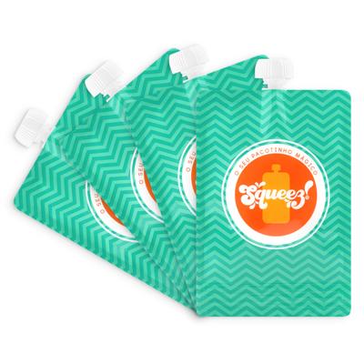 Pack 4 Pacotes reutilizáveis Squeez! 200ml