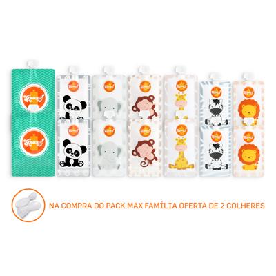 💥BLACK FRIDAY -10% DESCONTO Pack 14 Max Familia Squeez! + 2 Colheres Grátis