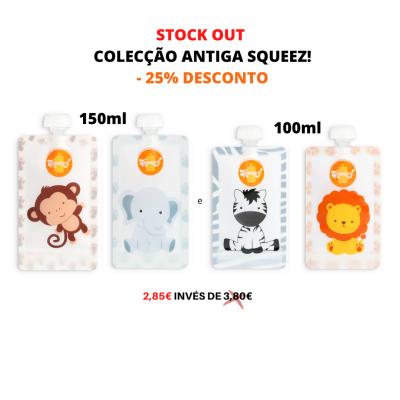 -25% DESCONTO STOCK OUT Squeez! colecção antiga