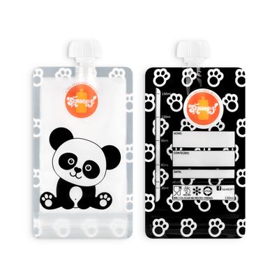 Pacotinho reutilizável Squeez! Avulso Panda 150ml