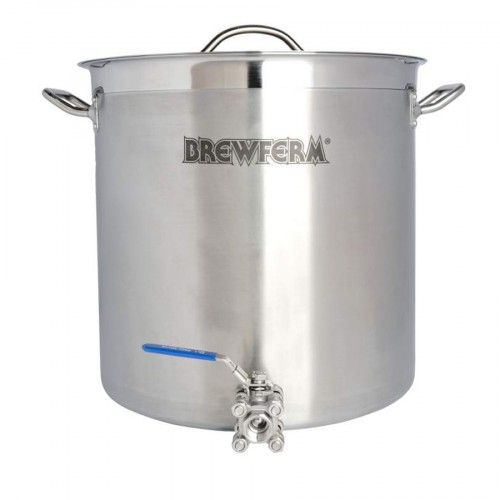Panela em inox Brewferm com torneira - 50 litros