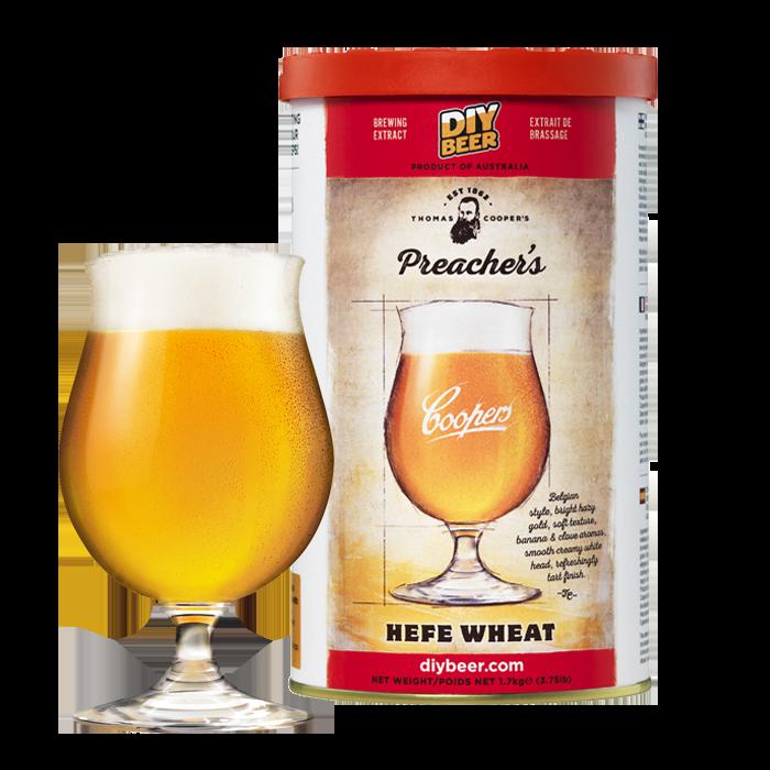 Kit de cerveja Coopers Preacher´s Hefe Wheat - 23L