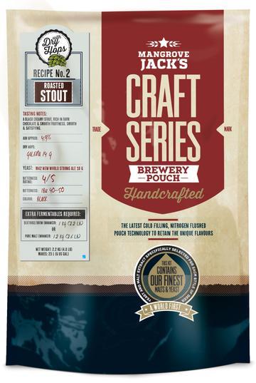 Kit de cerveja Mangrove Jack´s Roasted Stout (Dry Hops) - 23L