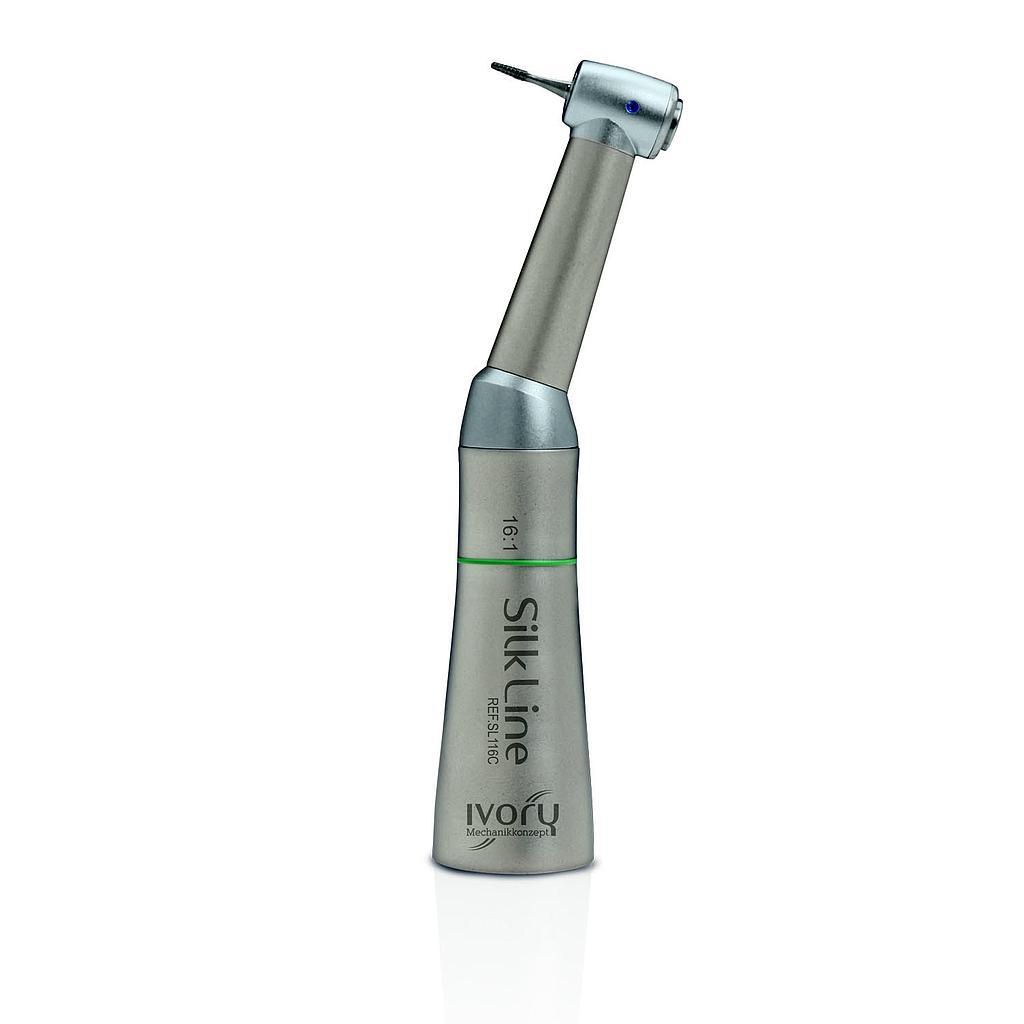 Contra ângulo IVORY Silk Line, redução 16:1, endodontia, s/ spray