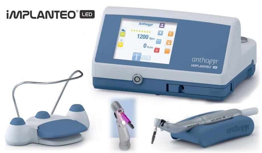 Motor implantologia ANTHOGYR IMPLANTEO com luz led