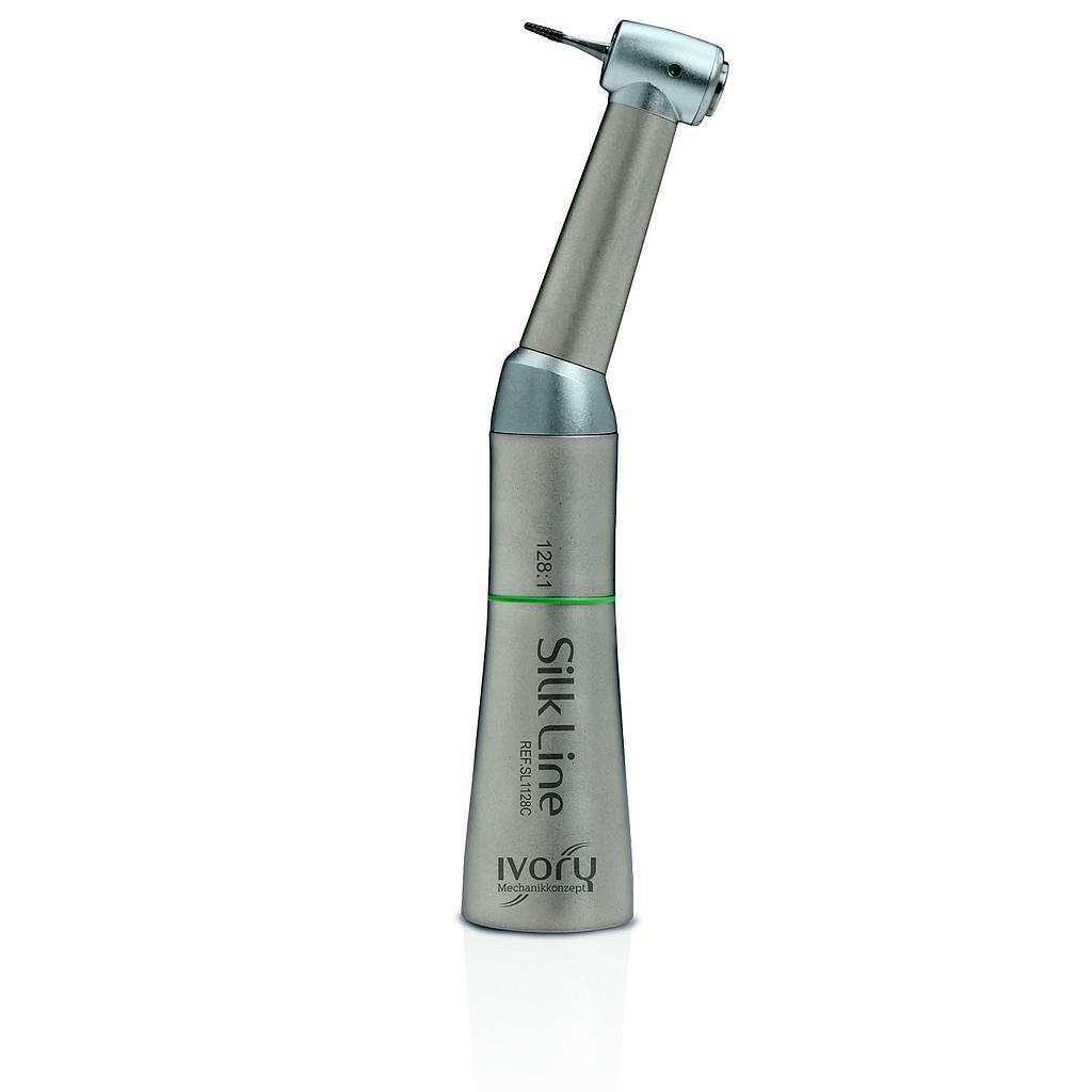 Contra ângulo IVORY Silk Line, redução 128:1, endodontia, s/ spray
