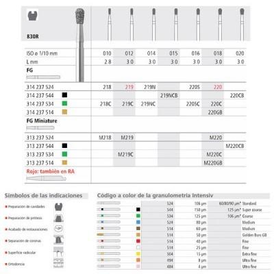 FG 219N/6 CB 830R-015 FG DIAM. S-GROSSO 6U.
