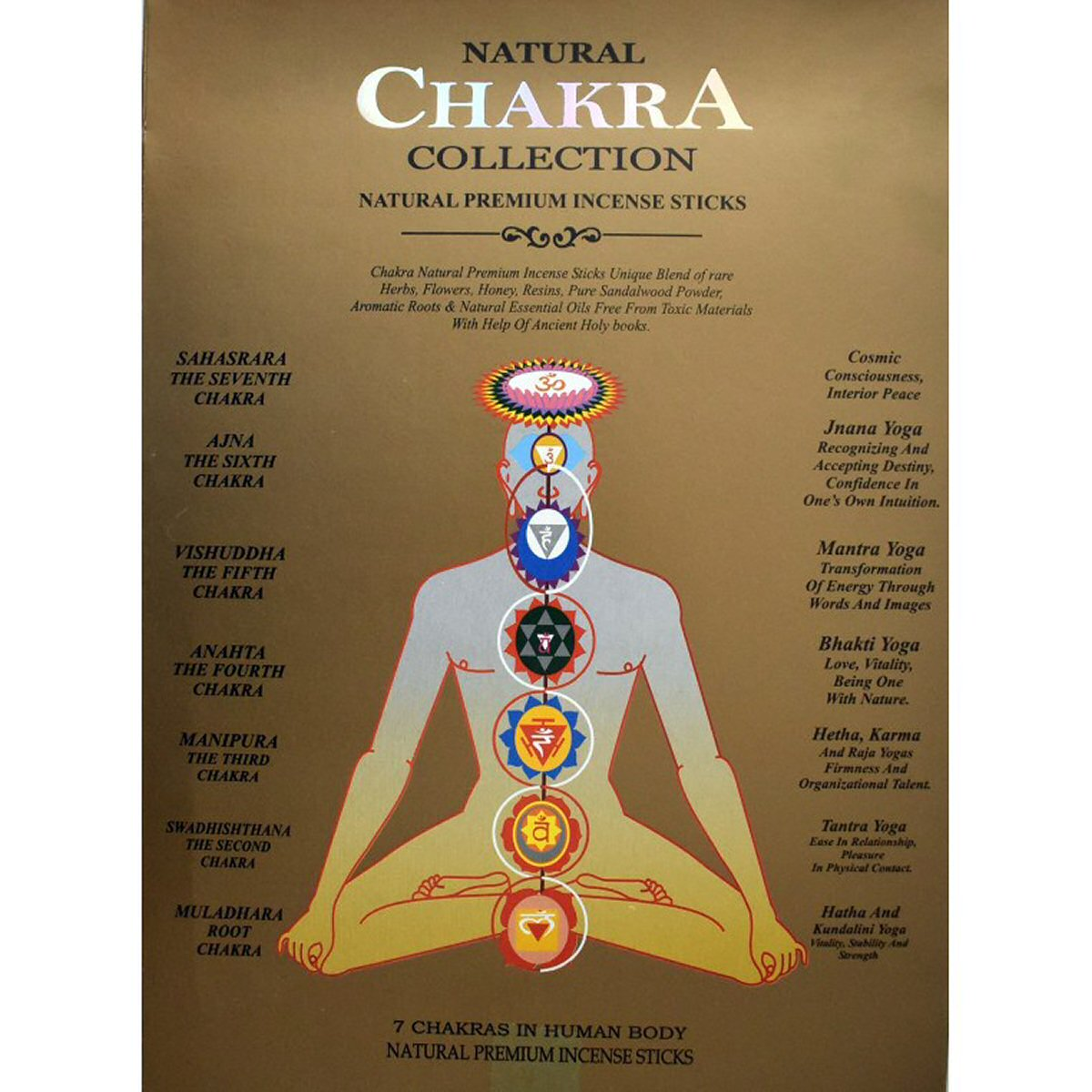 Incenso Natural 7 Chakra Premium Collection
