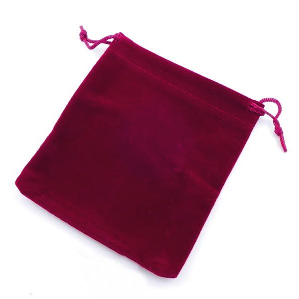 Bolsa Pequena de Veludo Bordeaux