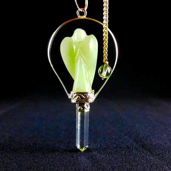 Pêndulo Anjo de Aventurina Verde