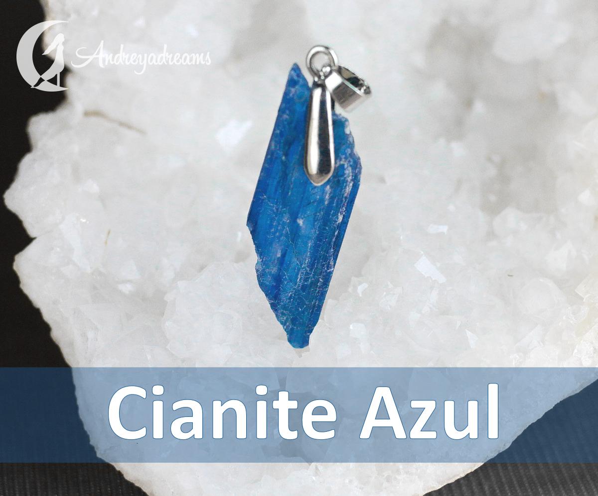 Pendente Cianite Azul Natural