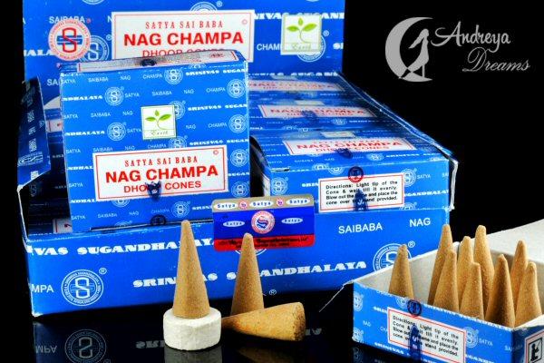 Cones Incenso Nag Champa - Dhoop Cones