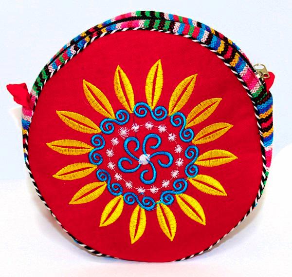 Carteira Tibetana Vermelha