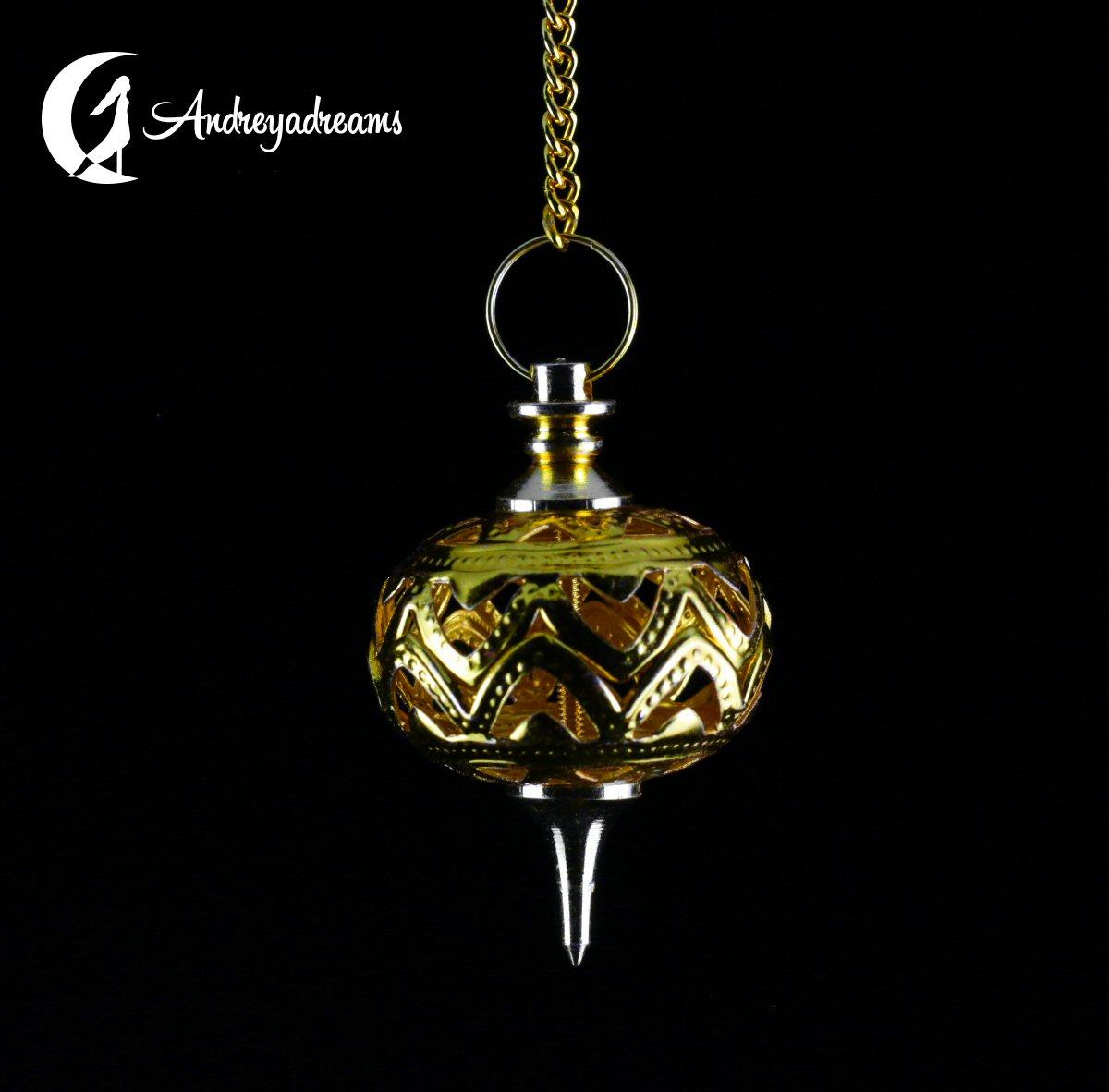 Pêndulo de Metal Pião - Dourado