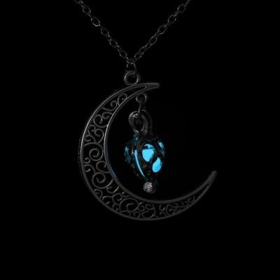 Colar Lua com Bola Que Brilha no Escuro