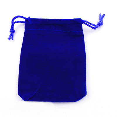 Bolsa Pequena de Veludo Azul