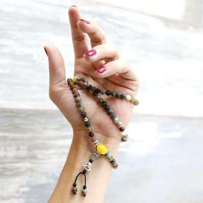 Mala Budista Ágata da Índia