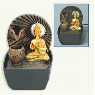 Fonte de água Buda Thai Dourado
