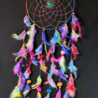 Caça Sonhos Colorido Grande 26cm