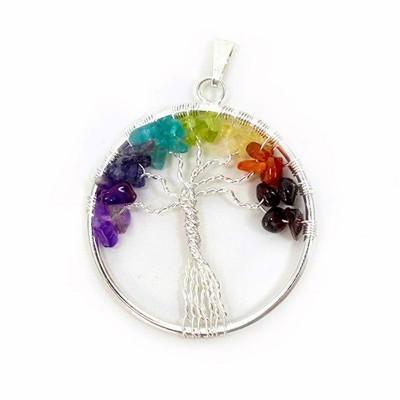 Pendente Árvore da Vida com Pedras dos Chakras