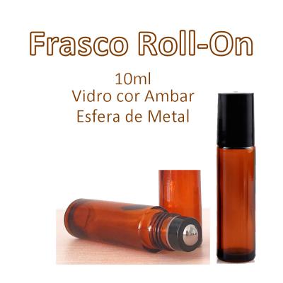 Frasco Roll-On de Vidro Ambar 10ml