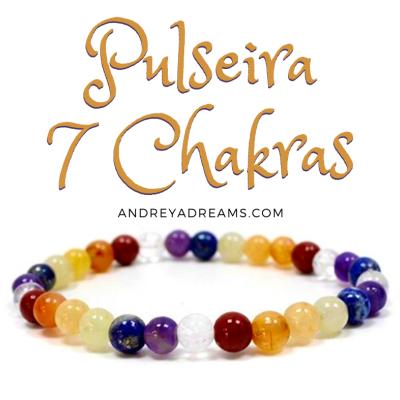 Pulseira 7 Chakras de Cristais