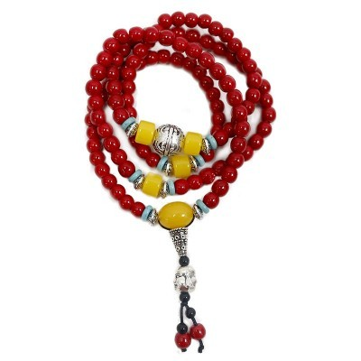 Mala Budista Jaspe Vermelho