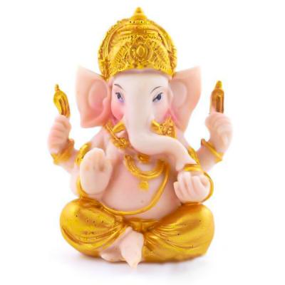 Ganesha Dourado Coroa 9cm