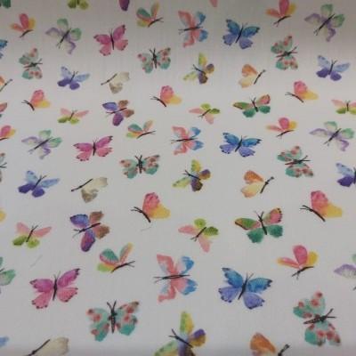 Tecido Multicolor (Borboletas)