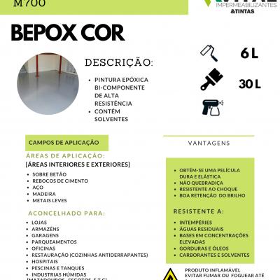 BEPOX COR TINTA EPÓXICA 2 COMPONENTES 6 e 30 LITROS