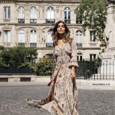 Vestido comprido Miss June FRIDA