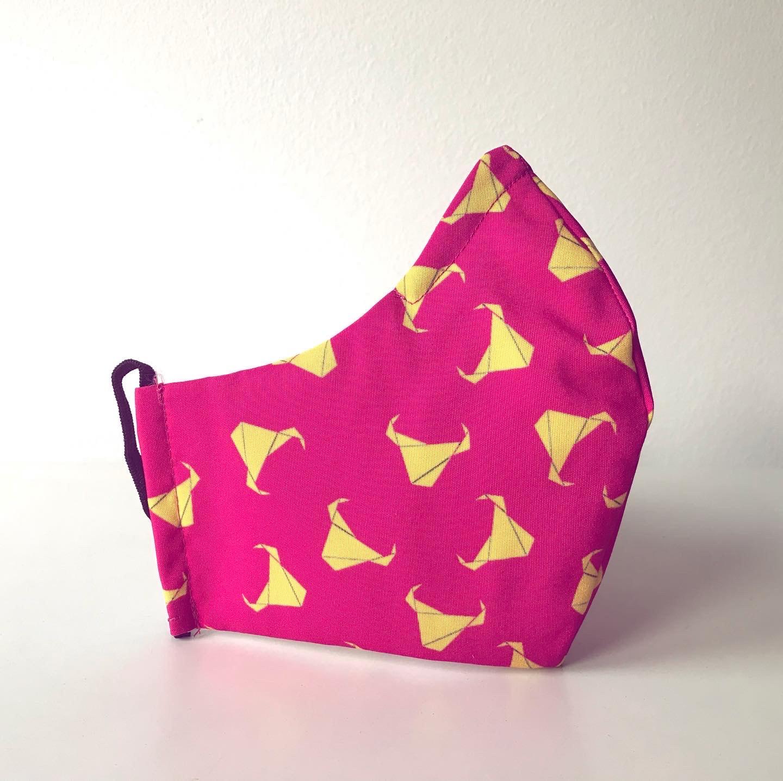 Máscara Touradas cor-de-rosa