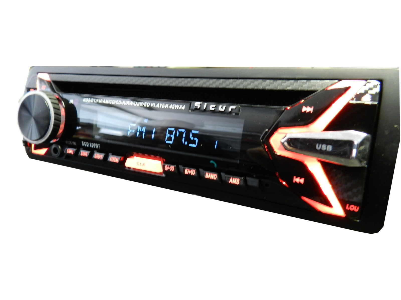 Autorrádio Sicur CD/FM/MP3/USB/SD/RDS/BT SCD250BT