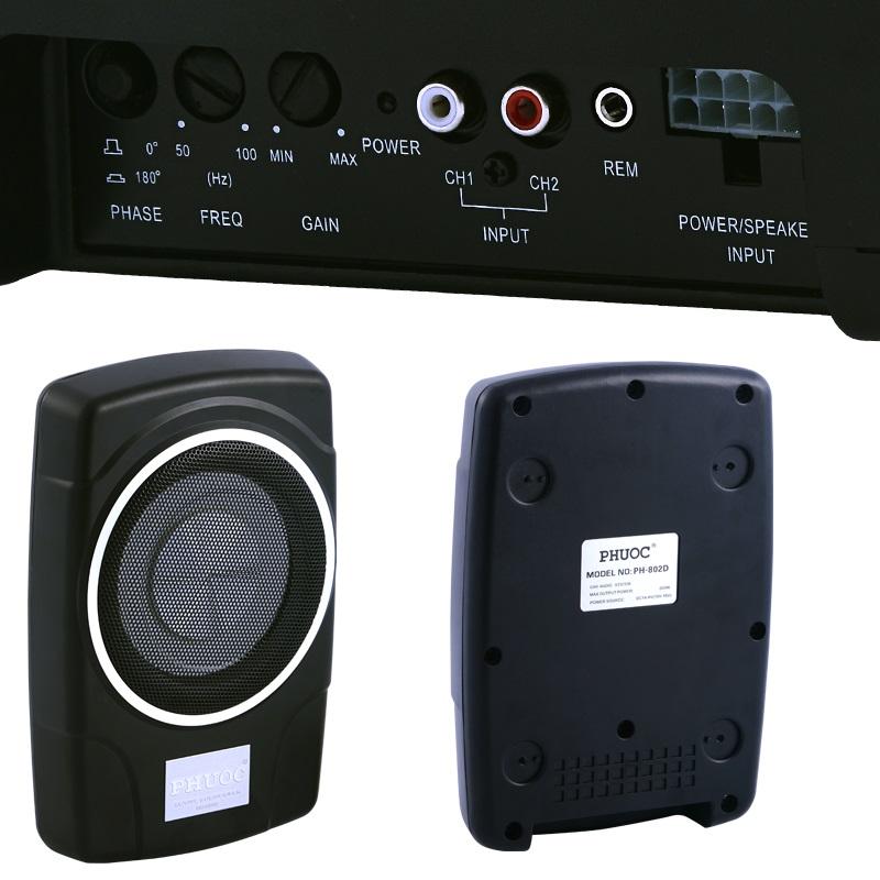Subwoofer Amplificado Sicur 200mm 200W S802D