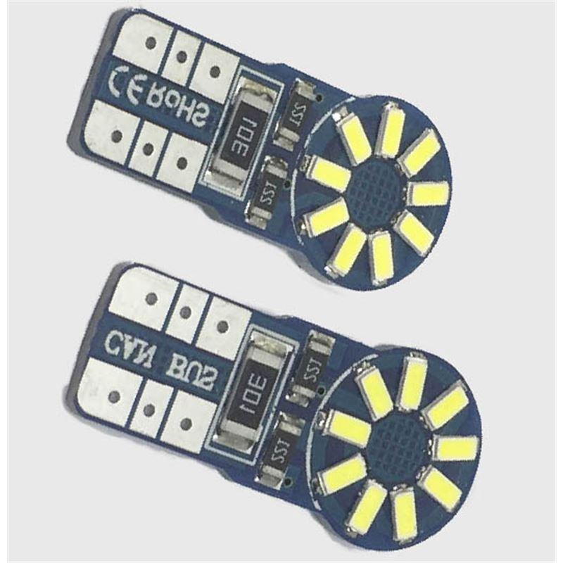 KIT LÂMPADAS T10 18 LED'S CAN BUS 3W LKLP112