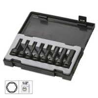 "KIT DE 8 CHAVES DE IMPACTO HEX. DE 1/2"" 52339"