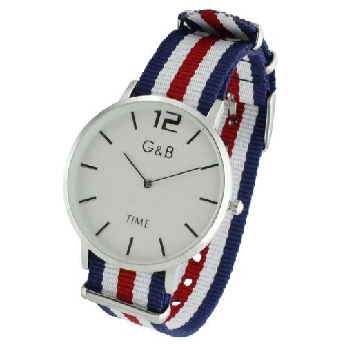 Kit G&B Relógio + 4 Braceletes Têxtil RGB43603