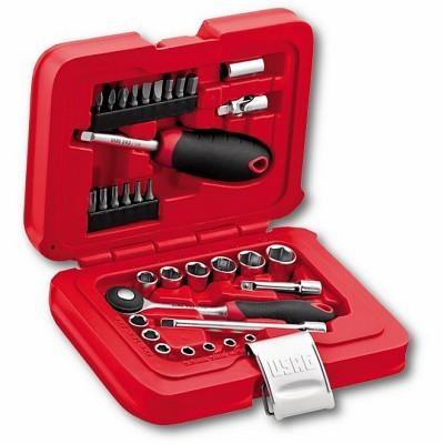 Jogo de chaves de caixa sextavadas e bits em caixa 34 peças USAG 601 1/4