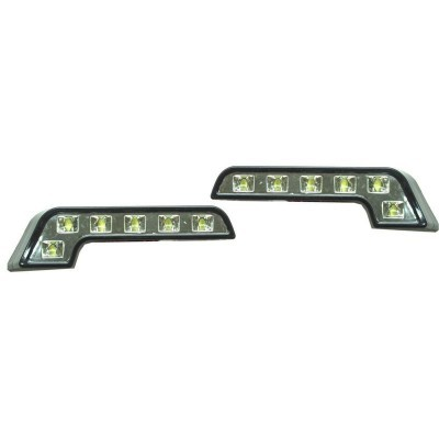 LUZ DIURNA FORMATO EM L 6 LED'S LUZ BRANCA DRL05