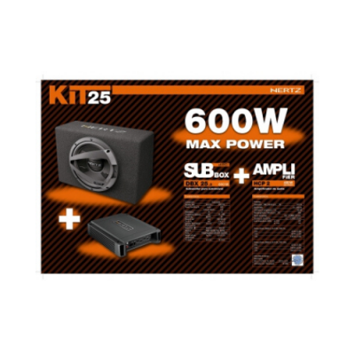 Kit Subwoofer + Amplificador 2 Canais Hertz 600W KITHERTZ1