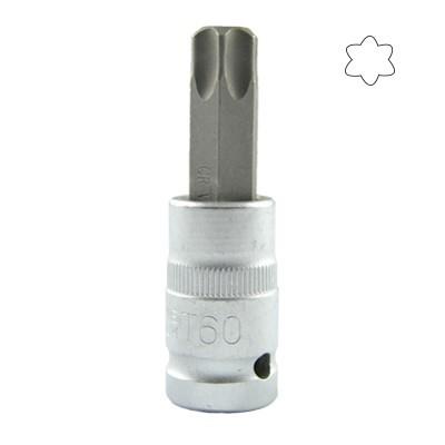 """Ponta Torx 1/2"""" 55mm (t20 - t100)"""