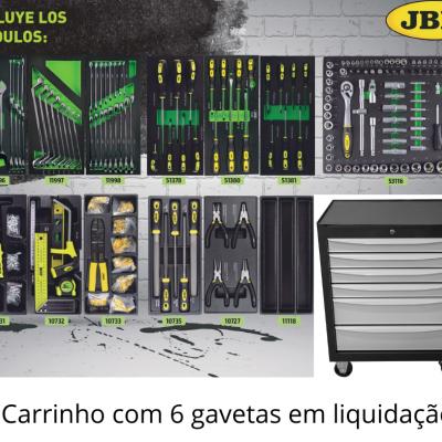 Carro de ferramentas com 6 gavetas JBM em liquidação na TUDAUTO