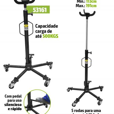 MACACO HIDRÁULICO DE FOSSA TELESCÓPICA 0,5T 53161