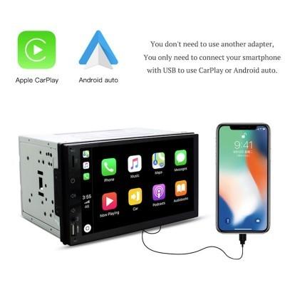 Monitor Duplo Din Bluetooth CarPlay LKCP2DIN