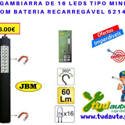 GAMBIARRA DE 16 LEDS TIPO MINI COM BATERIA RECARREGÁVEL 52147