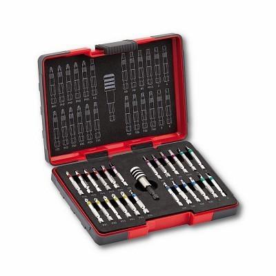 """Jogo com bits longos para chaves de impacto 1/4"""" (25 peças) USAG 664 S25 U664S25"""