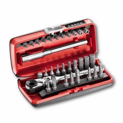 """Jogo com bits e roquete reversivel 31 peças USAG 606 1/4"""" SK U60614SK"""