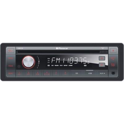 Auto-rádio com CD, DVD, USB, Bluetooth, entrada de microfone, 24V, indicado para autocarros VM028
